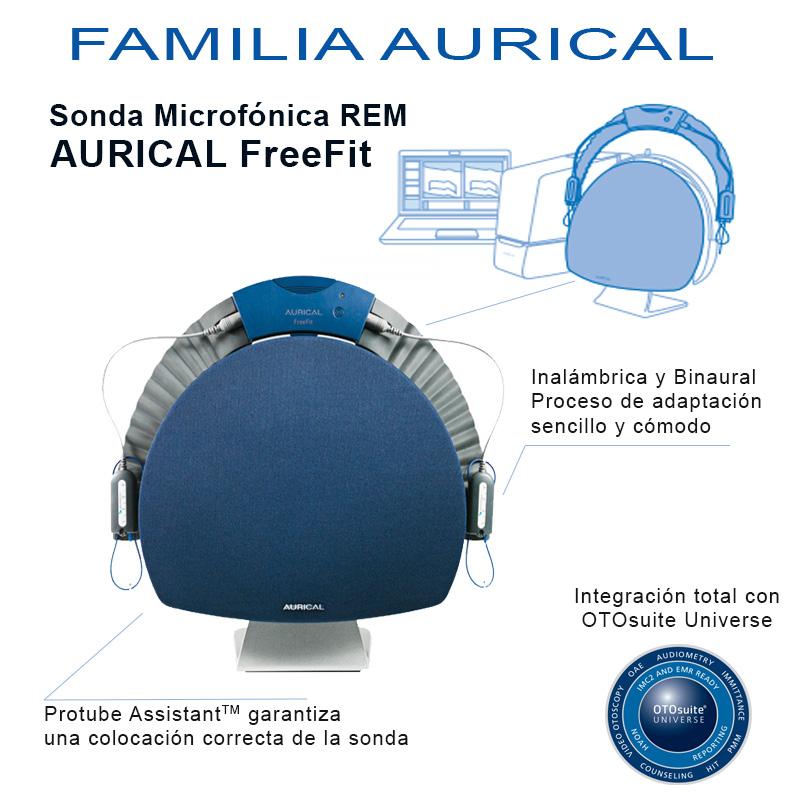 sistema de adaptación audífonos-sonda microfónica REM AURICAL FreeFit