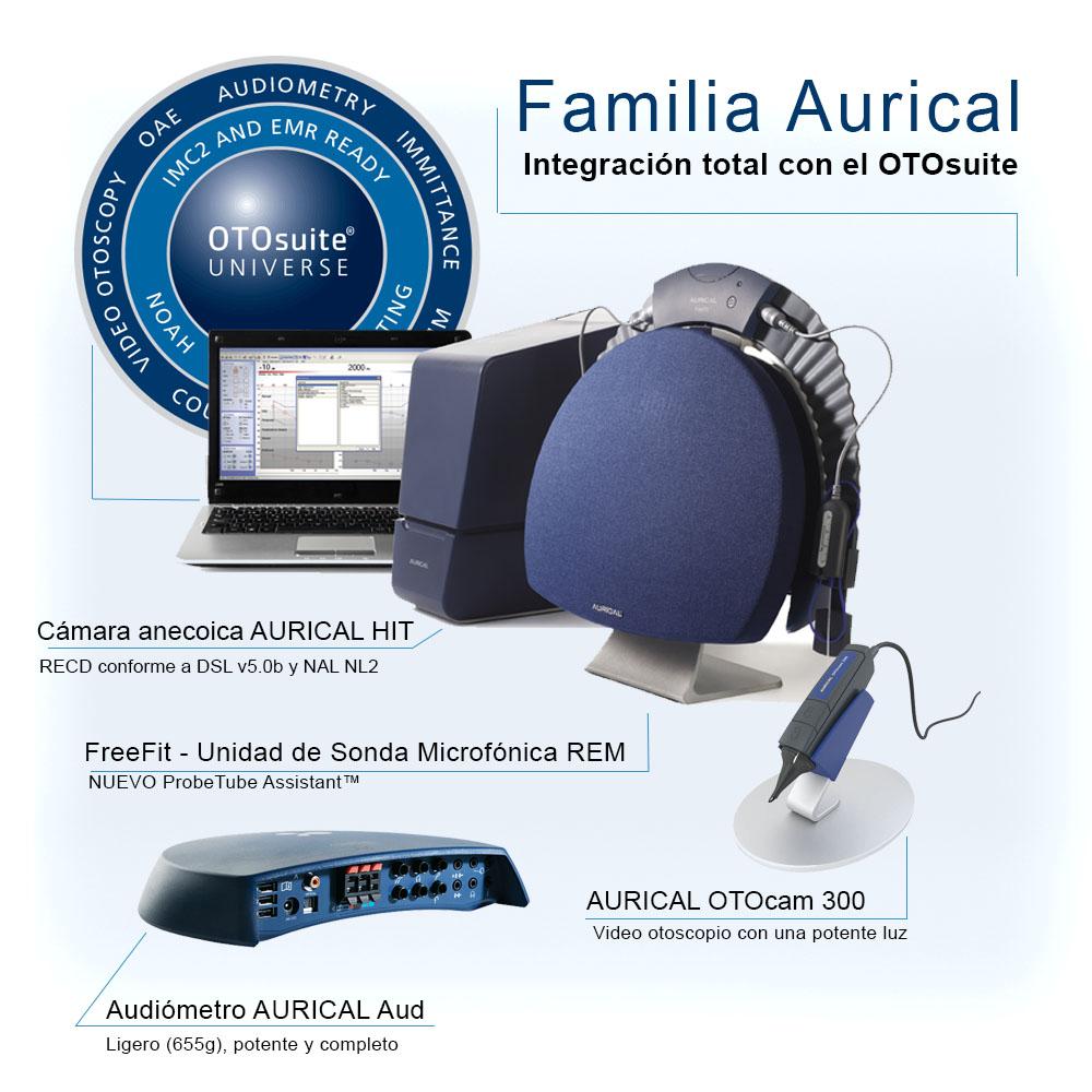Sistemas de adaptación de Audífonos Familia Aurical otometrics